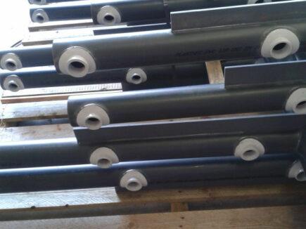 Realizzazione di collettori in PVC per raffreddamento acqua